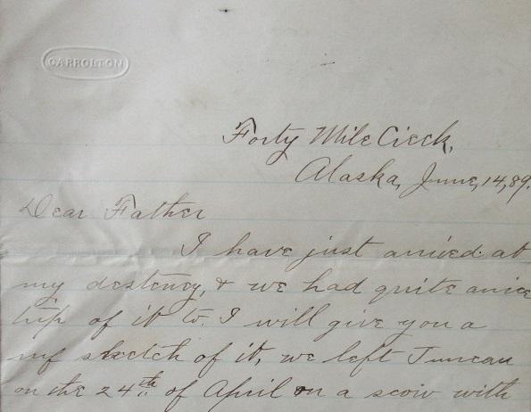John Warner Letter June 14, 1889